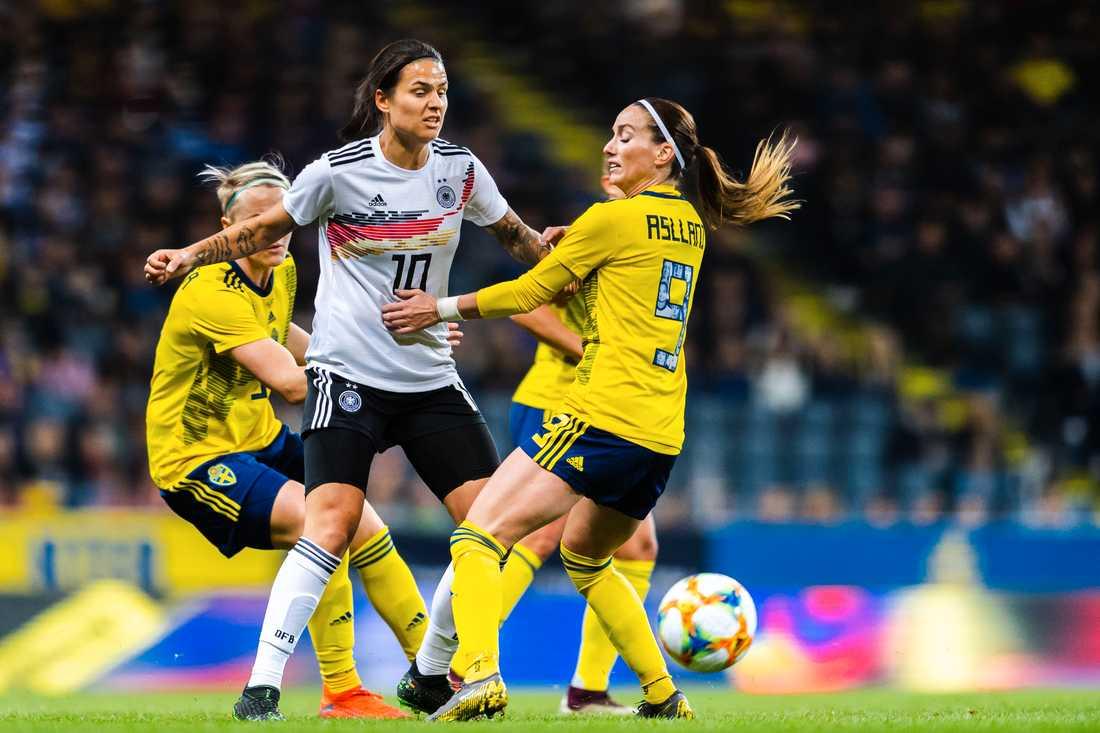 Marozsán i mötet mot Sverige tidigare i vår.