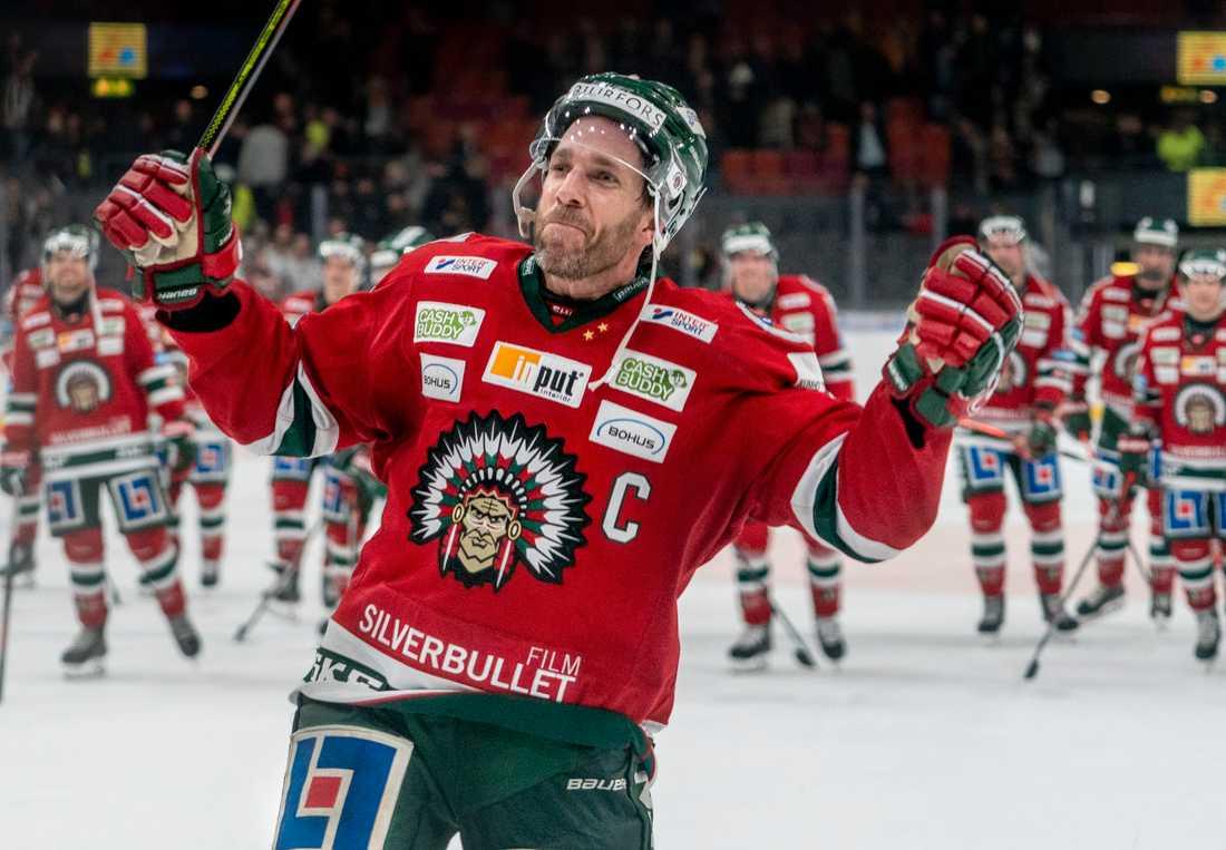 Joel Lundqvist blev tvåmålsskytt i Frölundas storseger mot Brynäs.