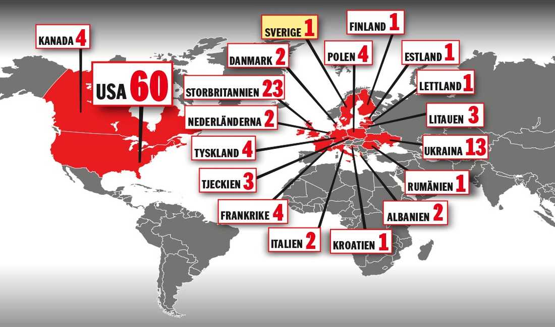 Så många diplomater skickar länderna hem.