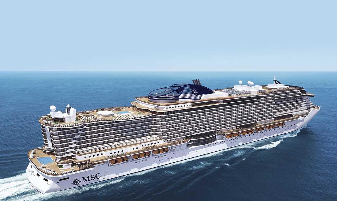 MSC:s nya fartyg får fler restauranger, barer och butiker vända ut mot havet, närmare vattenytan.