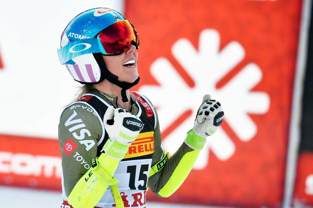 Mikaela Shiffrin tog VM-guld i super G i Åre.