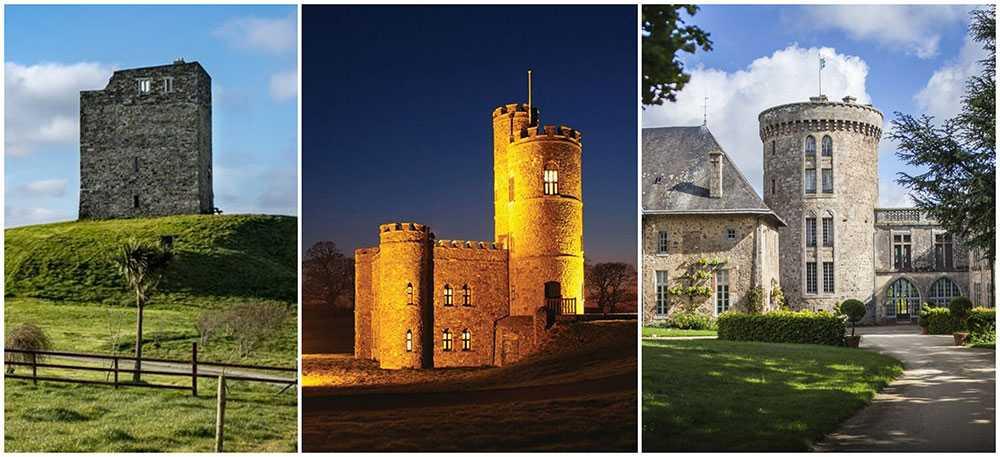 Tre slott med