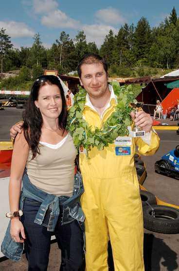 KÖRDE HÅRT Åsa Waldau grattades till finalplatsen av banans ägare Markoolio.
