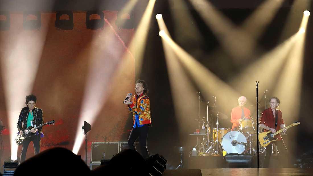 Rolling Stones spelar på Metlife Stadium i New Jersey.