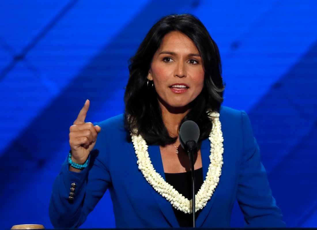 Gabbard, som tillhör Demokraterna, har tjänstgjort i Irakkriget. Hon avslöjade för CNN att hon ska kandidera i primärvalen nästa år – med förhoppningen att slå Donald Trump.