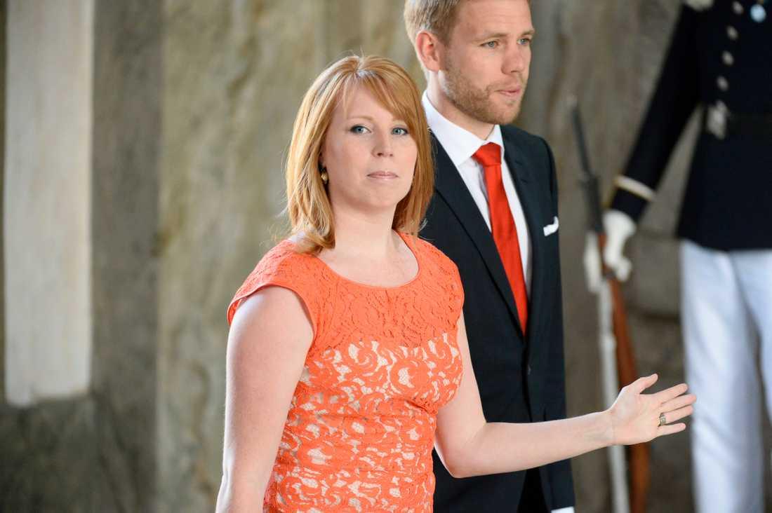 Orange allians. Annie Lööf var den första partiledaren på plats.