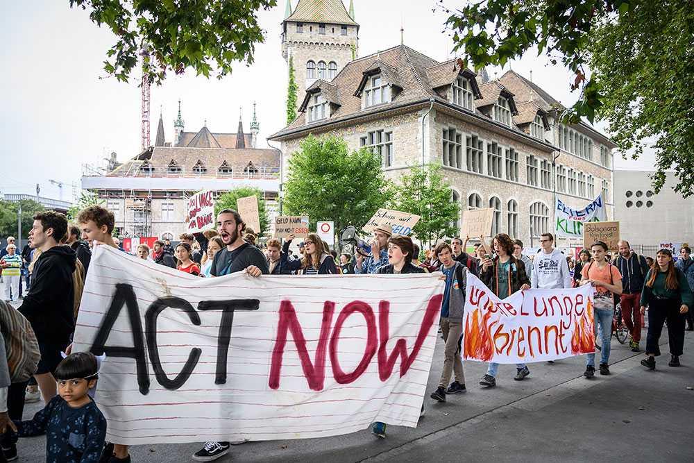 Protester mot skövlingen av Amazonas, i Schweiz 2019.