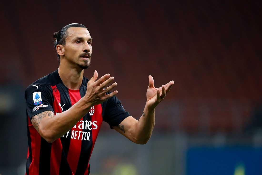 Zlatan Ibrahimovic gick av mållös mot Lille.
