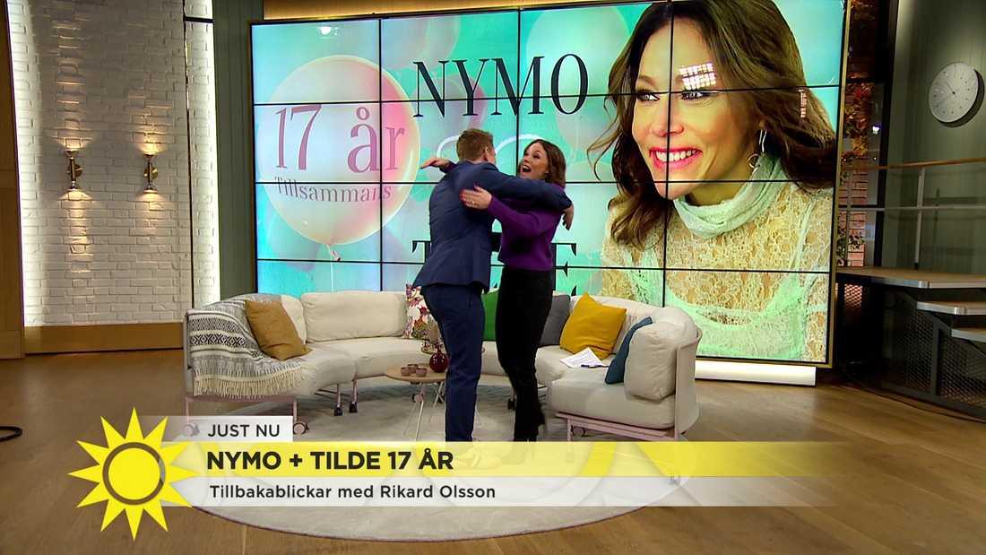 Programledaren Rikard Olsson var på plats i studion