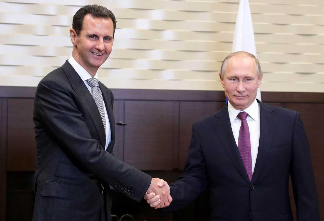 Bashar al-Assad och Vladimir Putin.
