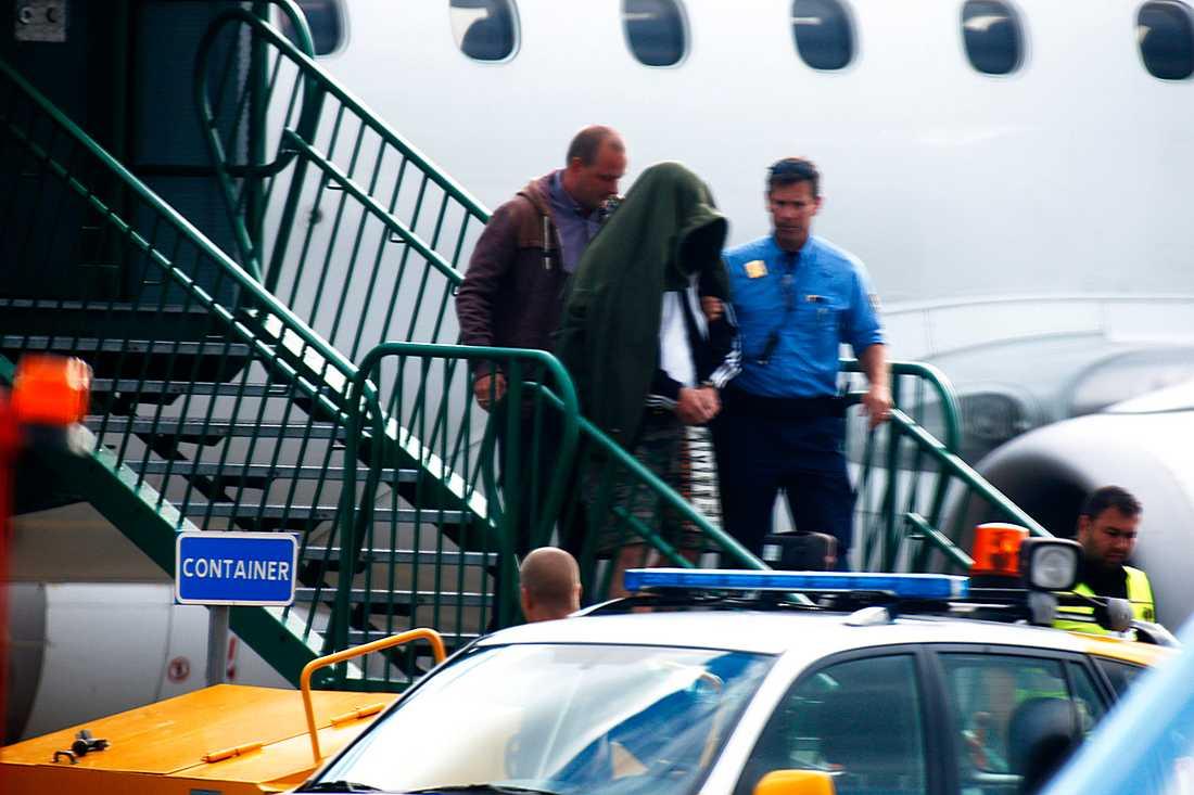 Den 36-årige mannen när han anlände till Sverige från Polen.