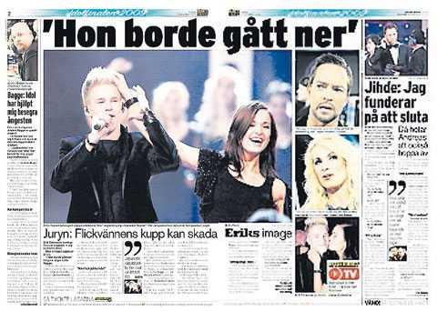 Nöjesbladet 12 december 2009.