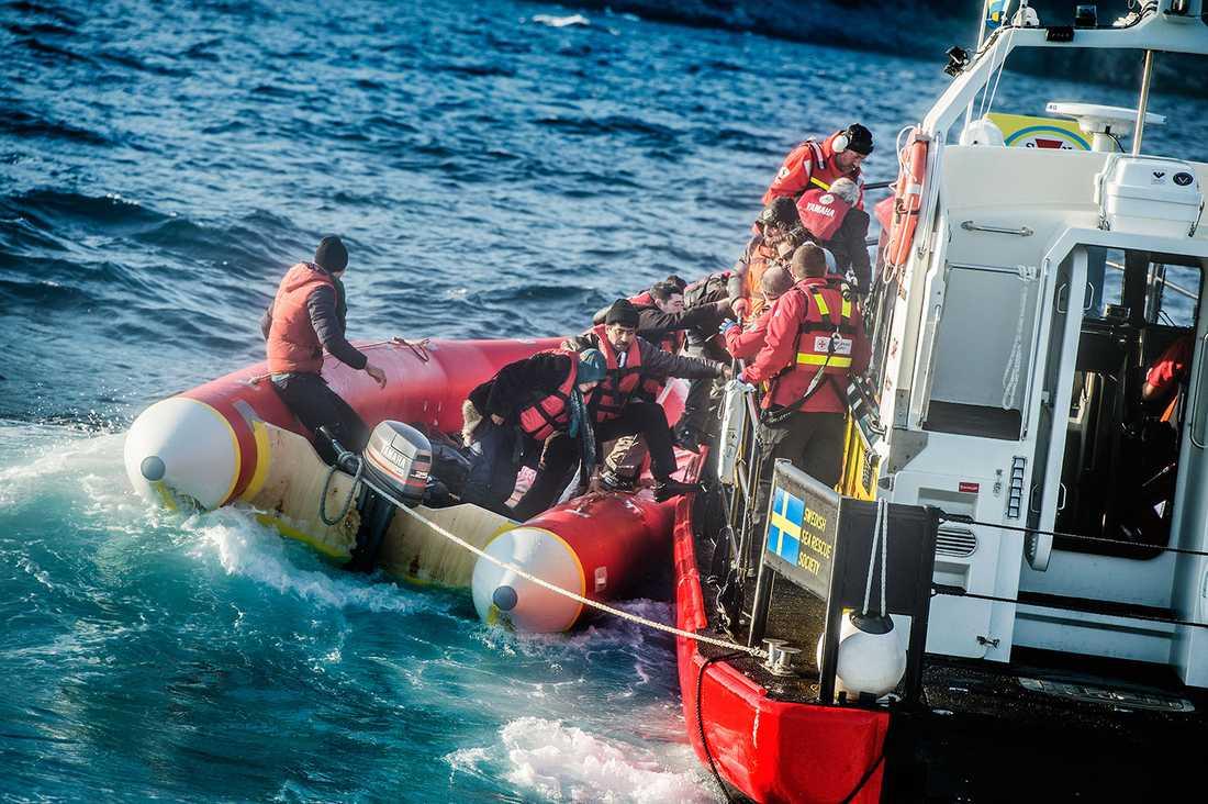 Gula båtarnas insats för att rädda liv på Medelhavet.