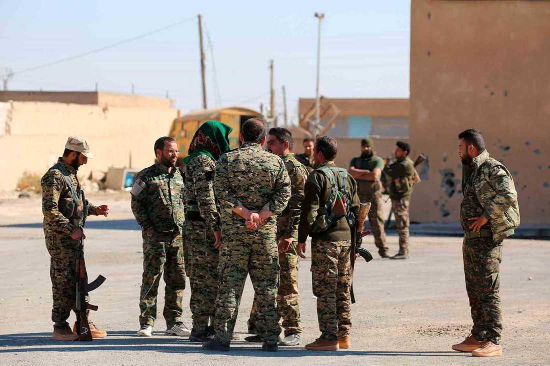 Soldater från SDF.