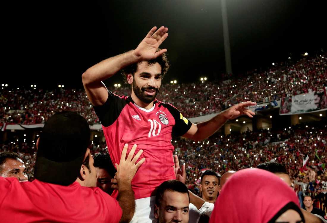 Mohamed Salah är hela Egyptens hjälte.
