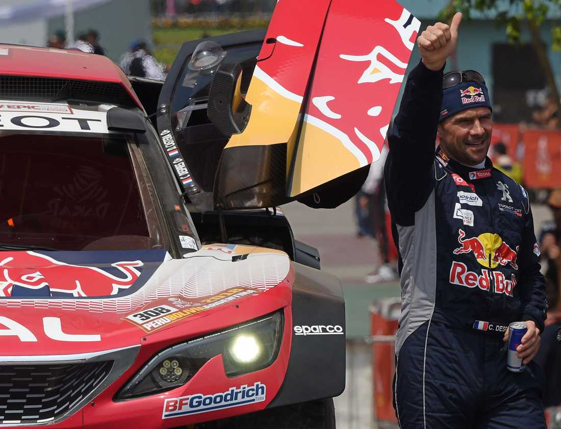 Cyril Despres segrare i andra etappen av Dakarrallyt