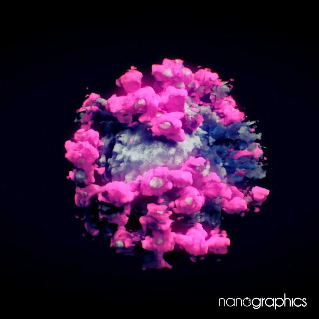 3D-bild av coronaviruset.