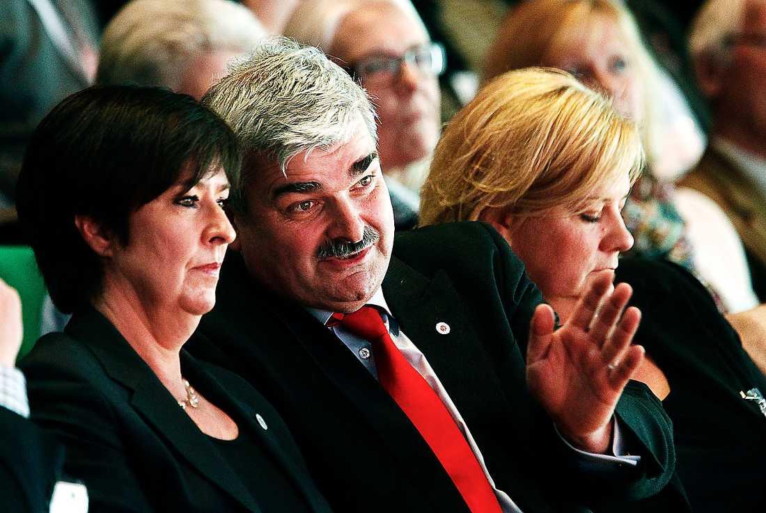 Mona Sahlin och Håkan Juholt på partiledarkongressen 2011.