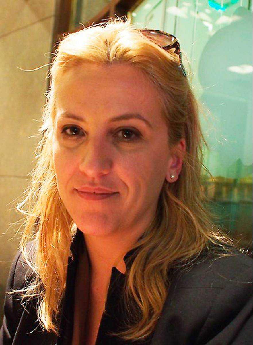 Rena Dourou, vänsteralliansen Syriza.