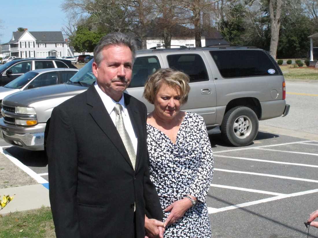 Richard och Elizabeth Jones, föräldrar till Sarah Jones.