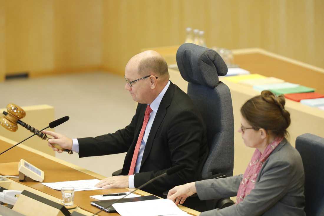 Urban Ahlin lämnar nu posten som riksdagens talman.