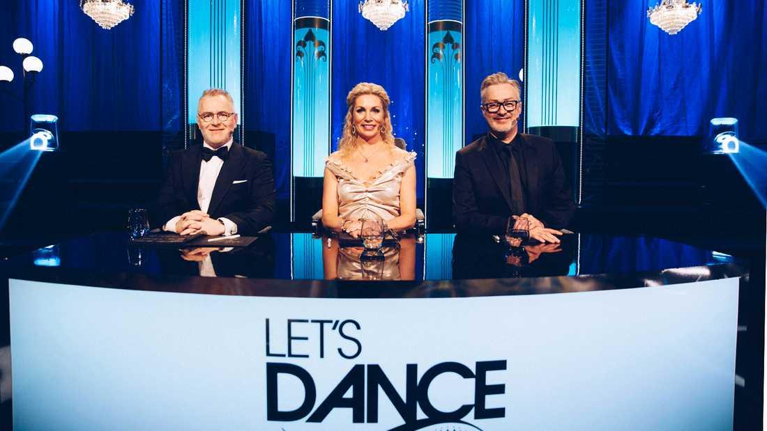 """""""Let's dance""""-juryn, från vänster Dermot Clemenger, Ann Wilson och Tony Iriving."""