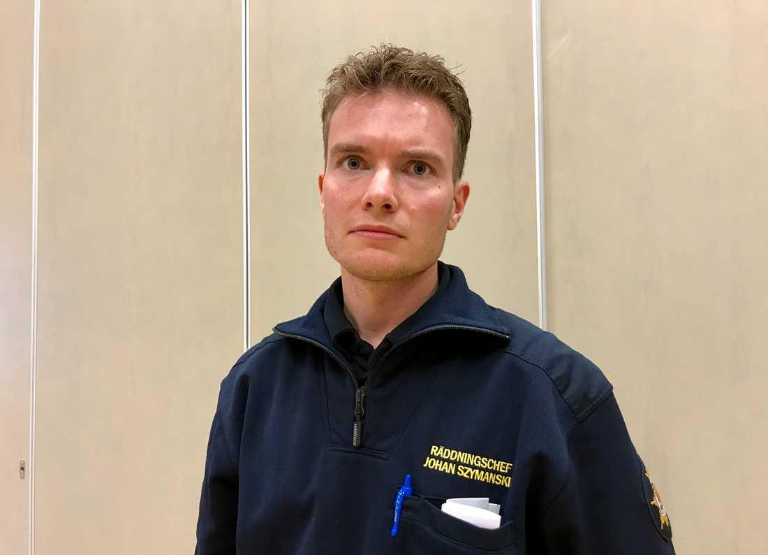 Johan Szymanski, räddningschef för Mora och Orsa kommun.
