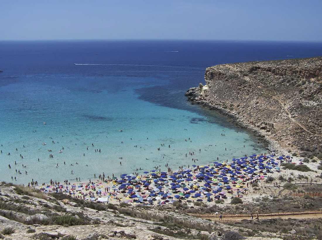 Rabbit Beach på Sicilien anses vara Europas bästa strand av resenärerna på sajten TripAdvisor.