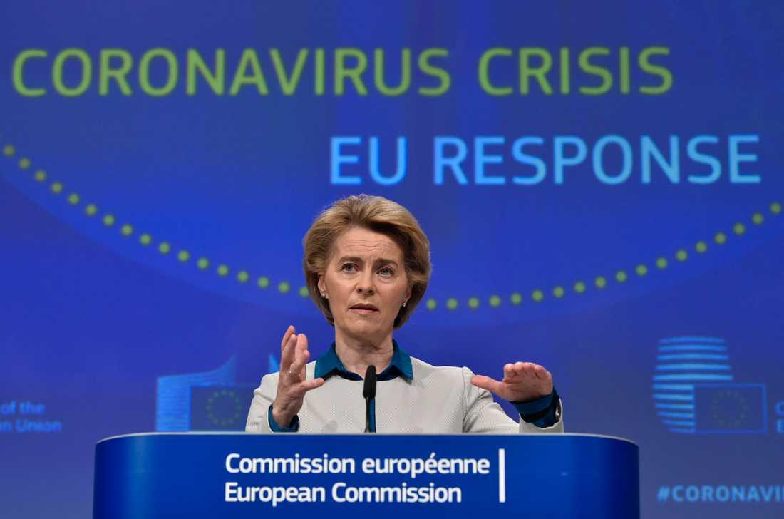 Förlåt för att vi reagerade så långsamt, hälsar EU-kommissionens ordförande Ursula von der Leyen till Italien. Arkivfoto.
