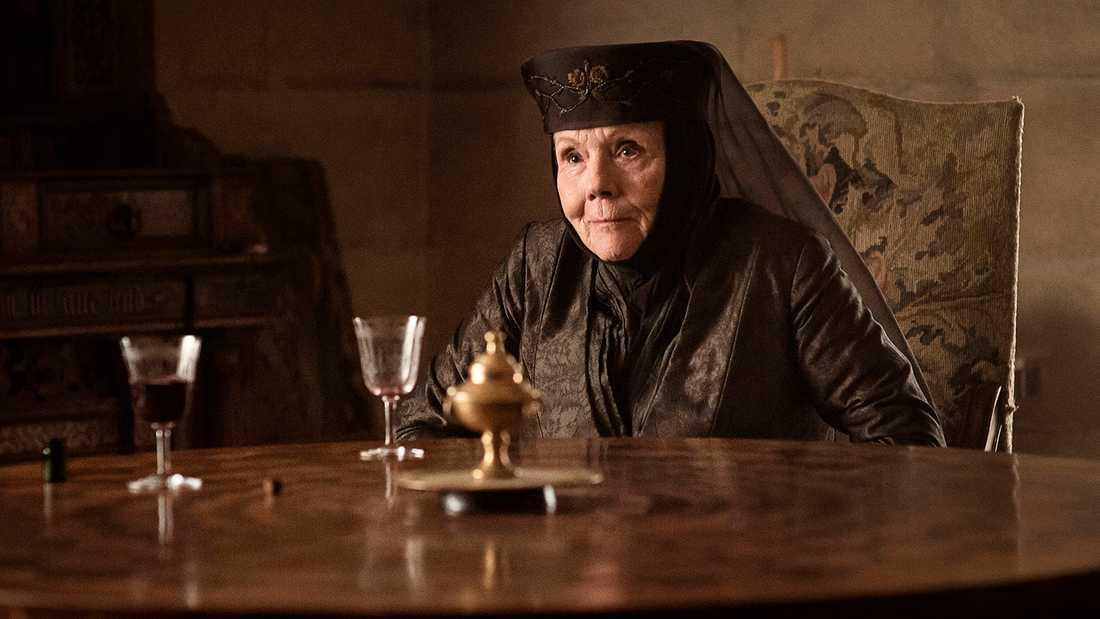 """Diana Rigg i """"Game of thrones""""."""