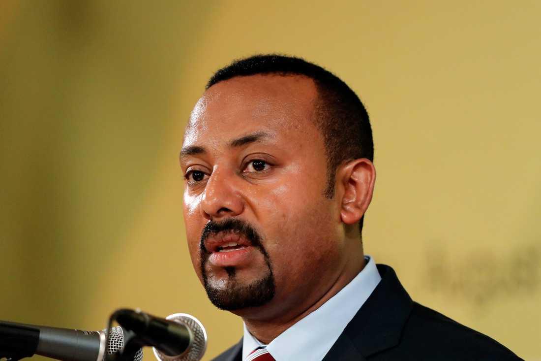 Etiopiens premiärminister Abiy Ahmed har utlyst nödläge till följd av covid-19. Arkivbild.