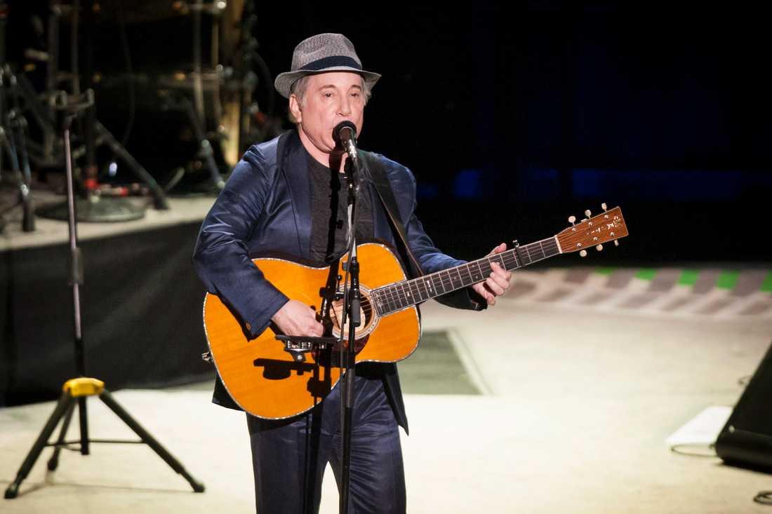 Paul Simon under en konsert i Oslo 2012.