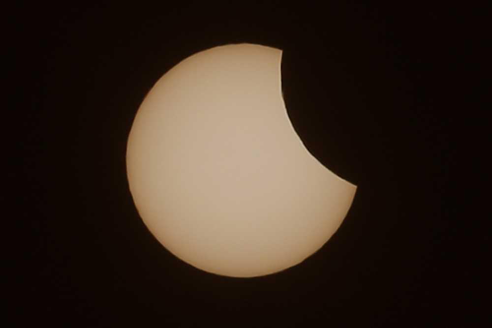 Solförmörkelsen i Munchen, Tyskland.