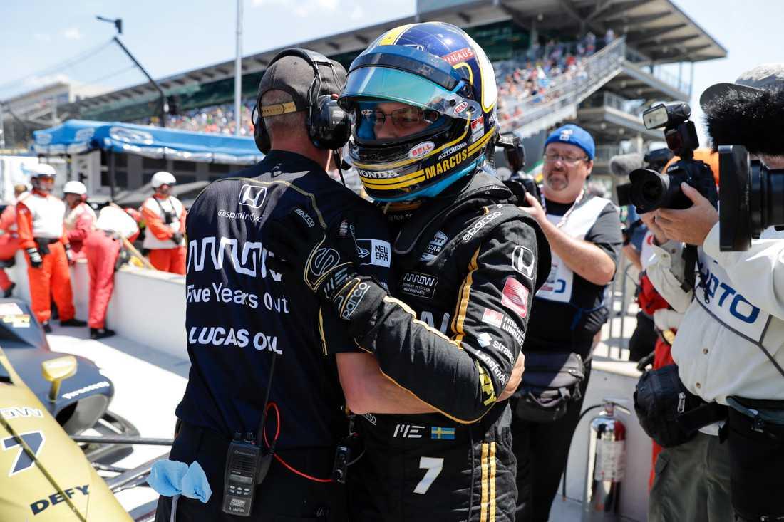 Marcus Ericsson bäst av svenskarna i kvalet till Indy 500
