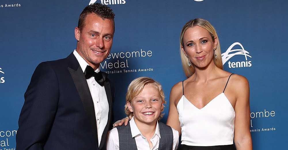 Lleyton Hewitt med familj.