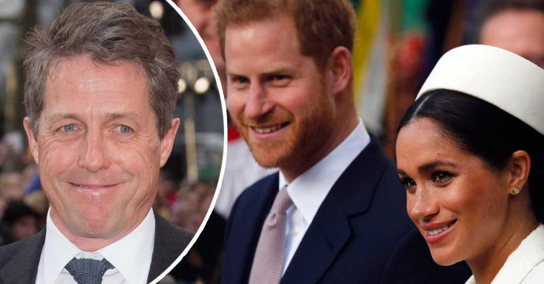 Hugh Grant tycker att prins Harry och Meghans beslut att distansera sig från kungahuset är rätt.