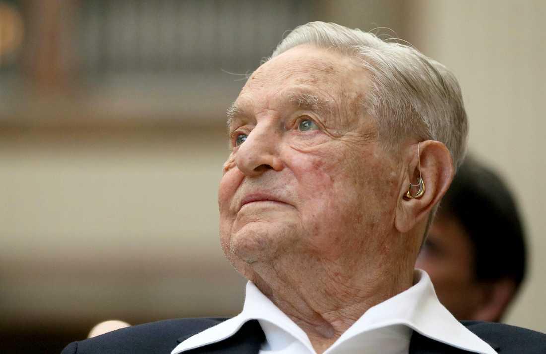 Den ungersk-amerikanske finansmannen George Soros, som är jude, liknas vid Hitler av en kulturprofil i Ungern. Arkivbild.