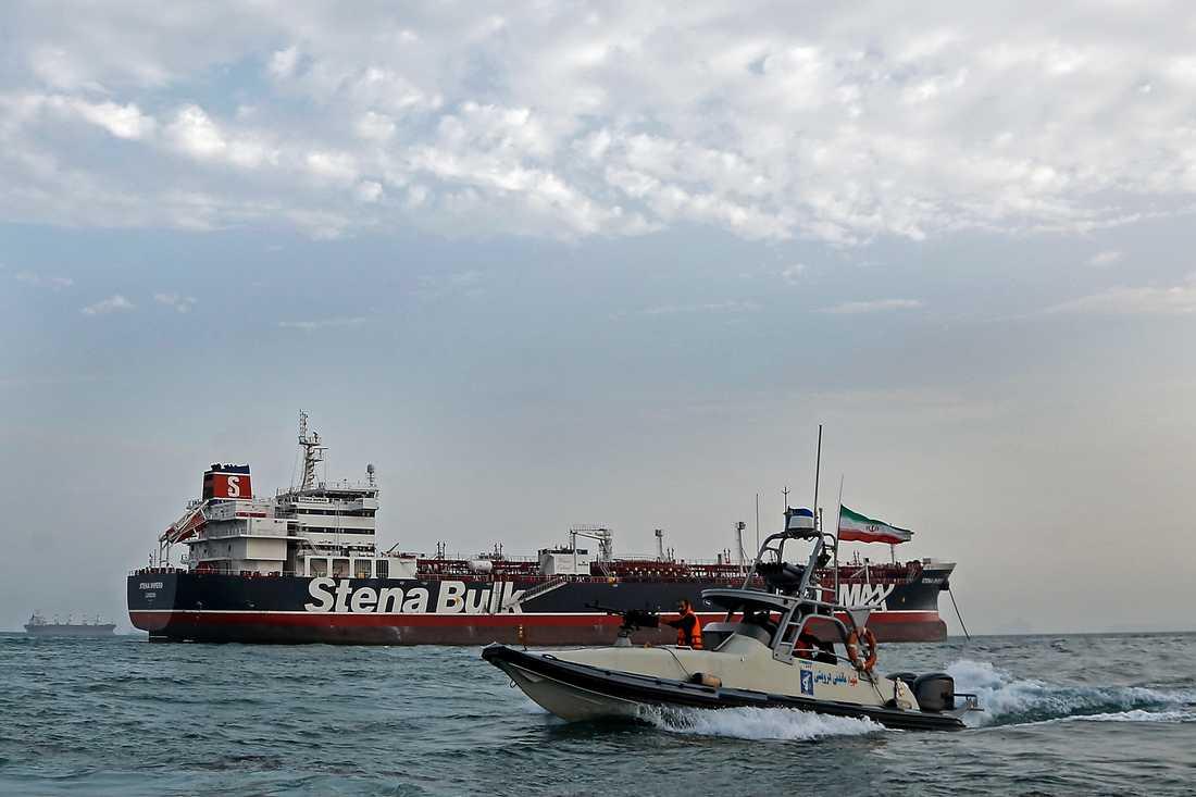 Stena Impero beslagtogs av Iran i Hormuzsundet i juli. Arkivbild.