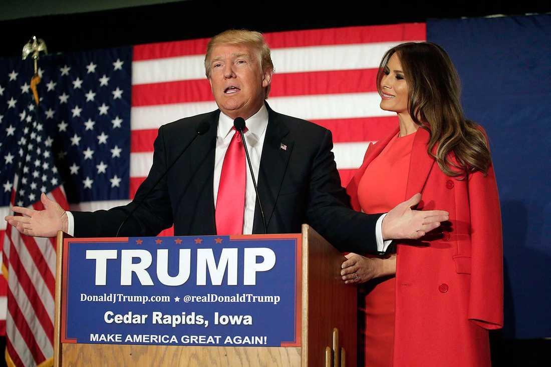 Donald Trump och Melania.