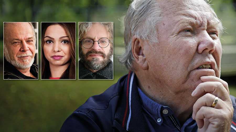 Vi har anmält Bert Karlsson för hets mot folkgrupp, inte för att ha använt z-ordet. Men det väljer Karlsson att mörka, skriver Leif Ericksson, Sunita Memetovic och Jan Selling.