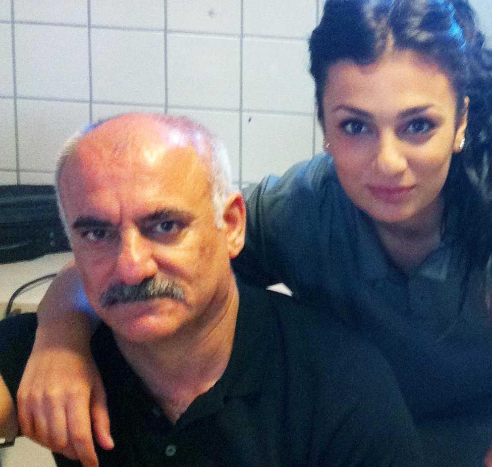 Halef med dottern Helin
