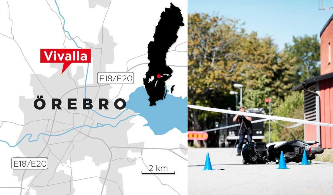 Händelsen inträffade i stadsdelen Vivalla i Örebro.