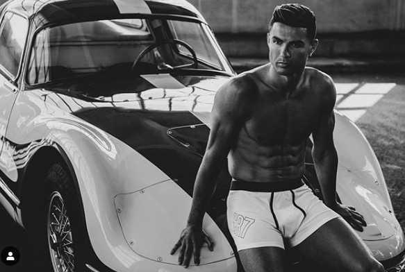 Ronaldo i sina kalsonger.
