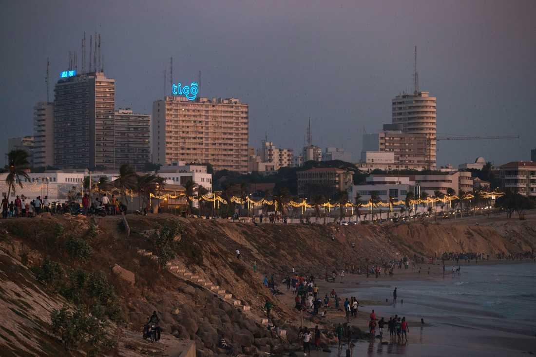 Dakar i Senegal kommer att få ett uppfräschat elnät, tack vare bidrag från USA. Arkivbild.