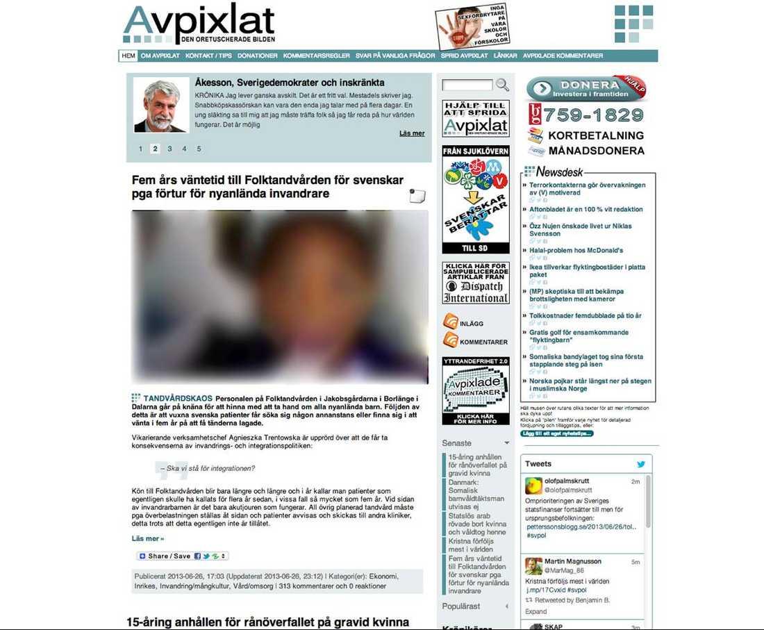 Skärmdump från Avpixlat.