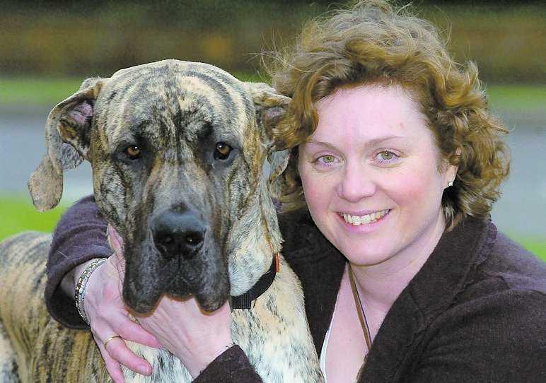 Gapade efter mycket Bev Alexander, 42, fick skynda iväg med sin hungriga grand danois, Biggles, till veterinären – som fann bevis på dålig kost.