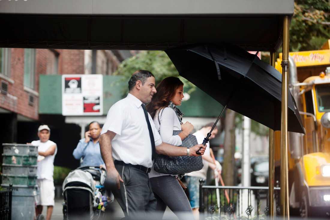 """Gravidnyheten Den 3 september berättade prinsessan Madeleine och Chris att de väntade barn i början på mars 2014.  """"Vi känner oss lyckligt lottade och kan knappt bärga oss tills vi blir föräldrar"""", skrev prinsessan på sin Facebooksida. Bilden är tagen i New York samma dag."""