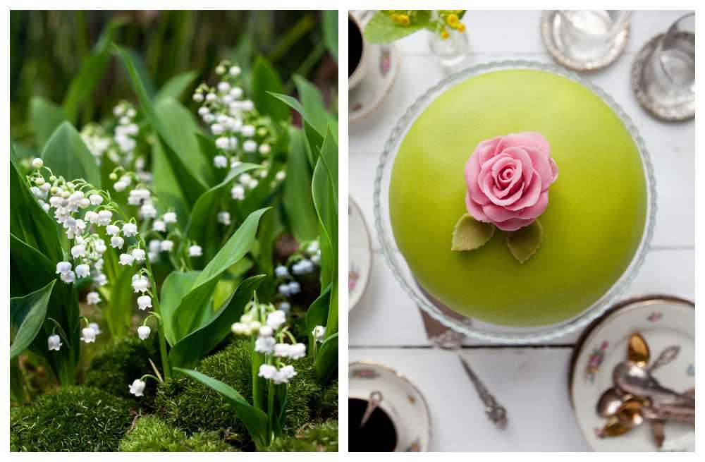 Blommor och tårta kan passa bra på mors dag.