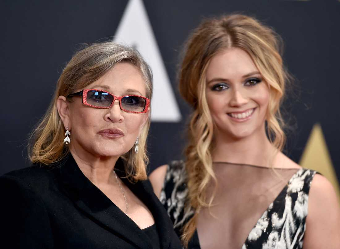 Carrie Fisher och Bille Lourd.
