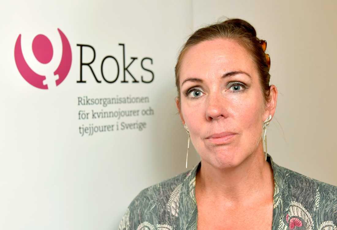 """""""Socionommässan är numera ett spektakel där skyddade boenden marknadsför sig"""", säger Jenny Westerstrand, ordförande i Roks (Riksorganisationen för kvinnojourer och tjejjourer i Sverige). Arkivbild."""